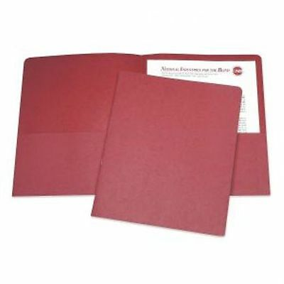 Skilcraft 2-pocket Folder Presentation Portfolio Red Letter 25pk