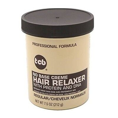 TCB No Base Creme Hair Relaxer Regular Formula with Protein and Dna 7.5oz