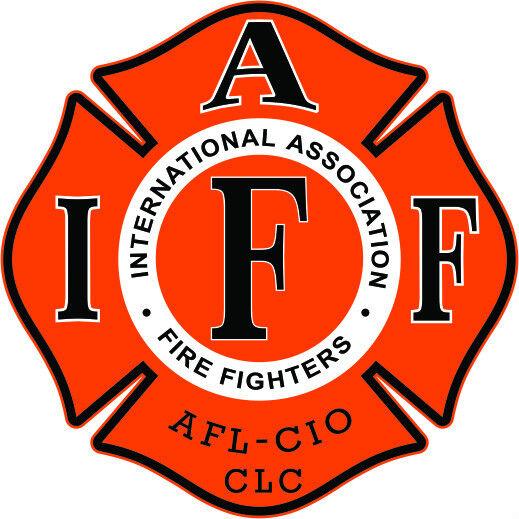 "4"" IAFF Decal Orange with Black Trim Exterior Mount Please Read Auction"