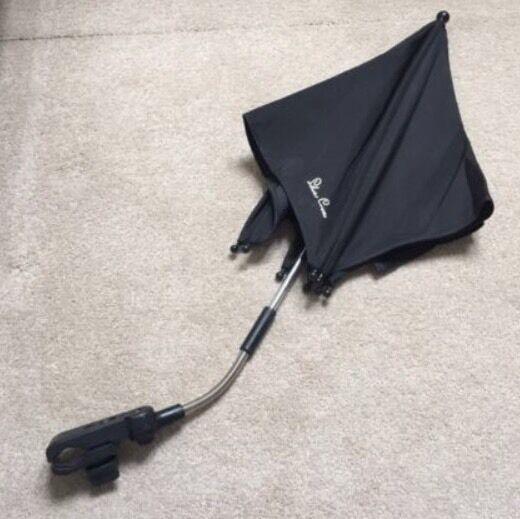 Silver Cross Parasol/Umbrella in Black - Excellent Condition