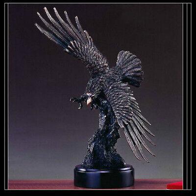 EAGLE Bronze Sculpture Statue Large Home Decor Desk Designer Resin Flying Bird for sale  Shipping to Canada