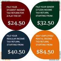 Income Tax return preparation - 2015 - personal/self-employed