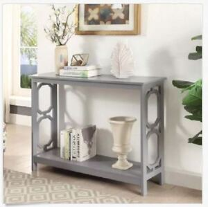 Console Table For Entryway Hallway Foyer Sofa Narrow Small Slim Retro Grey  Gray
