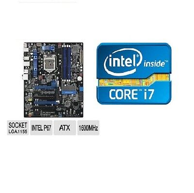 INTEL I7 3770K QUAD CORE X4 CPU P67 EXTREME ATX MOTHERBOARD DP67BGB3 COMBO KIT