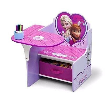 Frozen Princess Table Chair Set Kids Toddler Activity Play Art Desk Bin - Frozen Table