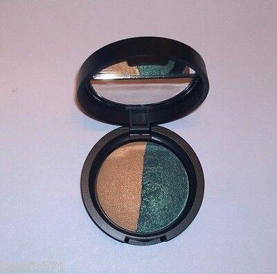 Laura Geller Baked Eye Shadow Duo - Shimmering Sands/Emerald Waters  .06 oz -New