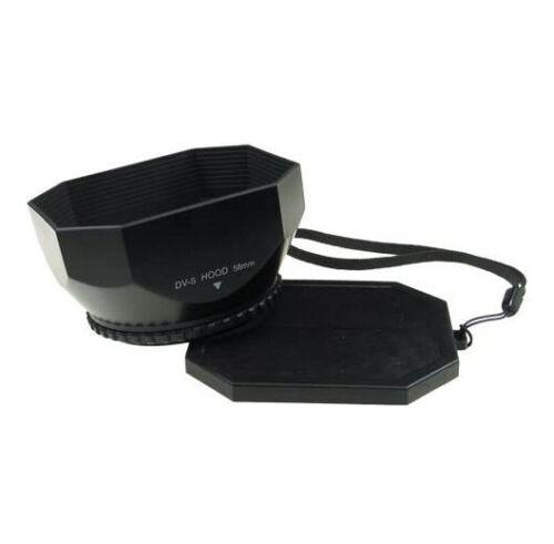 Mennon 58mm Lens Hood Video Shade for Sony Camcorder Camera DVs58