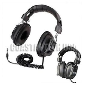 PROFESSIONAL METAL DETECTOR HEADPHONES w VOLUME CONTROL AND 1/4