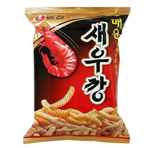4ea NONGSHIM 90g Hot Spicy Shrimp Flavor Stick Cracker Korea