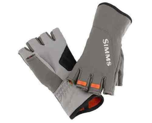 Simms Closeout Exstream Half-Finger Glove Dk Gunmetal, Select Sizes