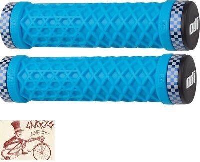 Soft Rubber Teal Blue Troop Flangeless Fiction BMX Grips