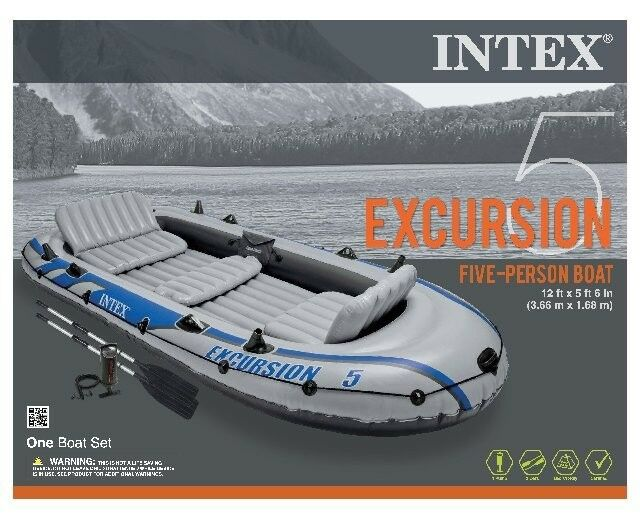 лодка intex excursion 5 set цена