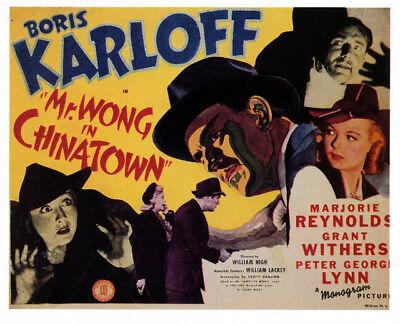 Mr. Wong in Chinatown (1939) Boris Karloff  Crime Mystery Film DVD