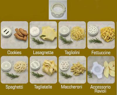 ARIETE Kit da 8 Trafile Pasta con Ghiera per Robot da Cucina PASTAMATIC 1591
