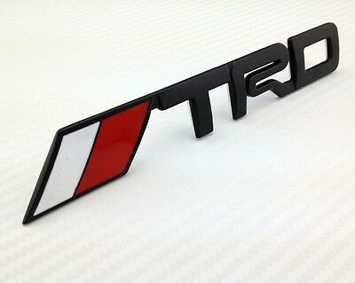 NEW Black TRD Toyota Racing 3D Emblem Decal Trunk Metal Badge Sticker