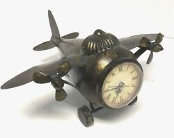 IMAX Lindbergh Aviation Airplane Shaped- Clock- 3 Face