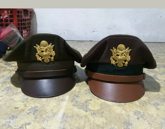 Set of two US army crusher hats
