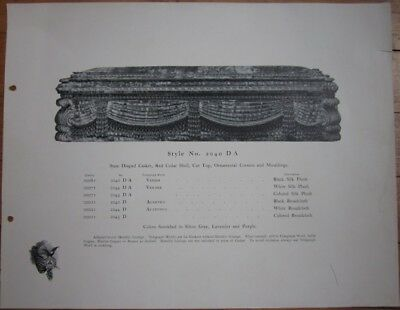 Coffin/Funeral/Undertaker 1910 Advertising Print - Boyertown Burial Casket #2040 - Advertising Halloween