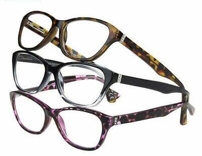 Design Optics by Foster Grant Jana Full Rim Women 3 pack Readers Reading (Design Optics Readers)