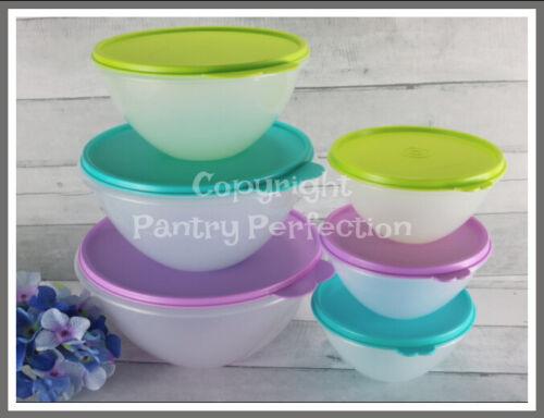 Brand New TUPPERWARE Wonderlier® Bowl 6-Pc. Bowl Set Nesting Vintage Style