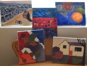"8"" x 10"" ART Local artist. $10 each, 2/$15!!!  abstracts, scenes"
