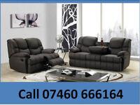 Black 3 and 2 recliner sofa