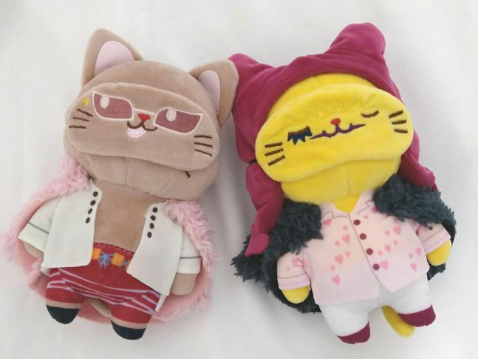 One Piece With Cat Doflamingo Corazon Chain Mascot Plush Doll Movic 14cm Set JPN