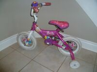 """12"""" Girl's Barbie Bike With Bell and Training Wheels"""
