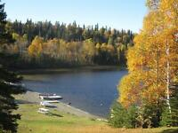 Resort 8 cottages 12 acres 850' on Catfish Lake 15 km from Wawa