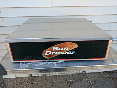 New Benchmark Dry Bun Box Hot Dog Roller Grill Stainless Steel