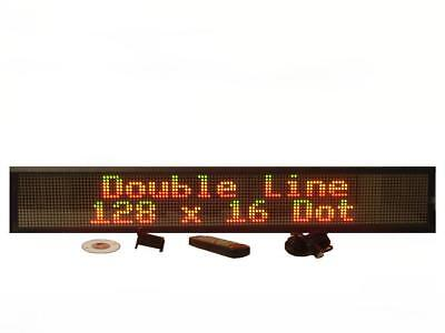 Double Line Indoor Tricolor Led Programmable Display Sign Full Package 40x6