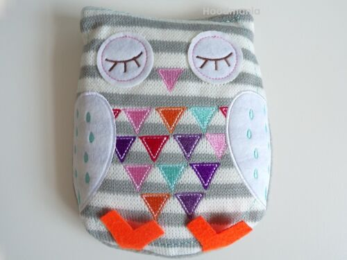 2-x-Cute-Cosy-Grey-Owl-Silica-Bead-Heat-Up-Pack-Microwaveable-Lavendar-Oil