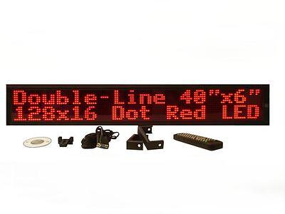 Two Line Indoor Red Led Programmable Display Sign Full Package 40x6