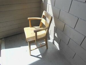 Strong wooden chair for sale.