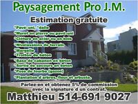 Paysagement Pro J.M. Pose de rouleau de gazon,Cloture, drain etc