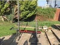Weider Weight Bench + Lat tower and other Accessories