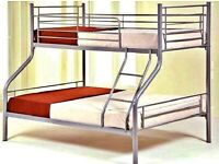 new trio metal bunk bed is available cash on delivery