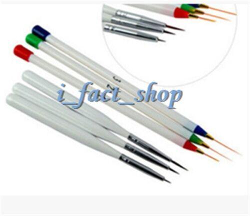 6x Acrylic Design Decoration Pen Brush Painting Drawing Nail Art Practical Tool#