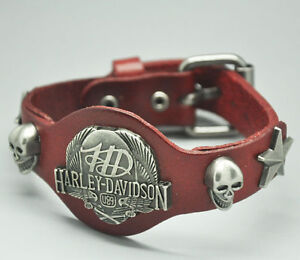 Harley Davidson Leather & Metal Bracelets & Rings -Big Selection
