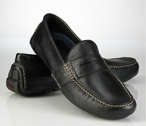 Mens Ralph Lauren Polo Shoes, Telly Loafers black 11.5