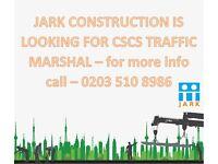 CSCS Traffic Marshal – Harrow – HA1 – North-West London – £9.50ph - £10.50ph - Jark Construction !