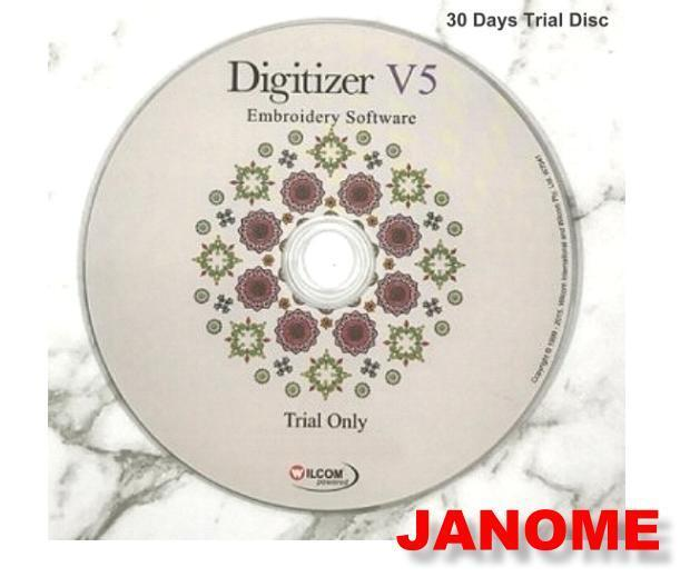 Janome Digitizer Embroidery Software 30 Day Trial Disc Dvd-Rom UK Version v5.0 1