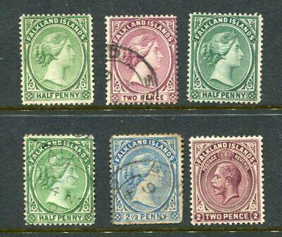 FALKLAND ISLANDS QV KGV Unused used Lot 6 Stamps
