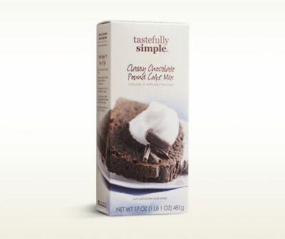 3 Boxes of Tastefully Simple Classy Chocolate Pound Cake Mix Chocolate Pound Cake Mix