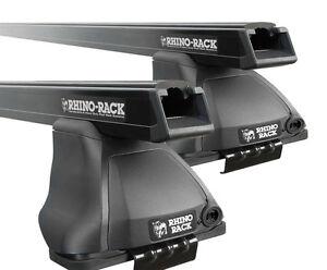 Rhino Pair of HD Roof Racks NISSAN Navara D40 Dual Cab 11/2005 On