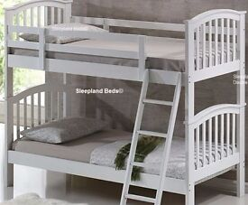 white childrens bunkbeds