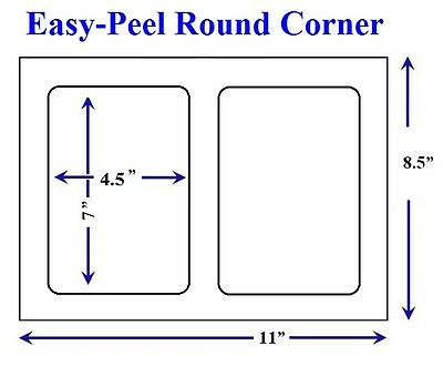 Easy Peel 500 Quality Round Corner Shipping Labels 2/Sheet For USPS Paypal  on Rummage