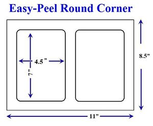 Easy-Peel-800-Quality-Round-Corner-Shipping-Labels-2-Sheet-For-USPS-Paypal