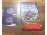 2 Alton towers tickets for Tuesday 3rd October