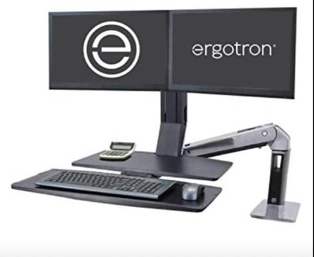 Ergotron WorkFit-A with Suspended Keyboard, Dual Monitors